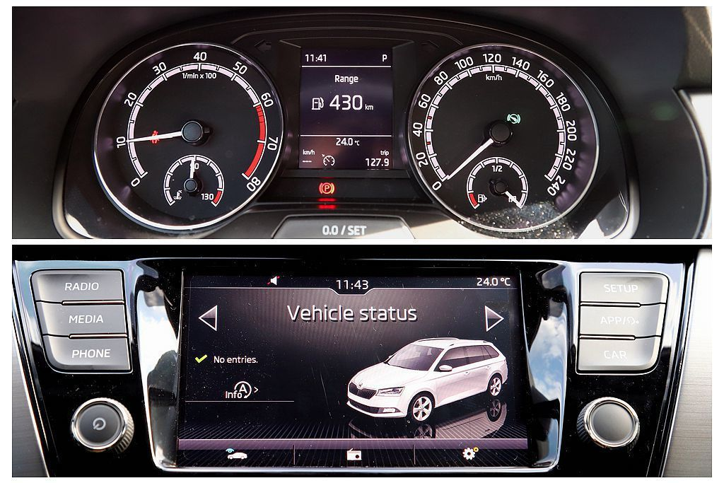 可惜的是,6.5吋多功能彩色資訊螢幕以及儀表中央的行車資訊顯示螢幕,小改款後內容...