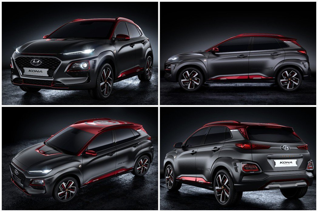 Hyundai Kona Iron Man Edition有著濃厚的鋼鐵人氣息。...