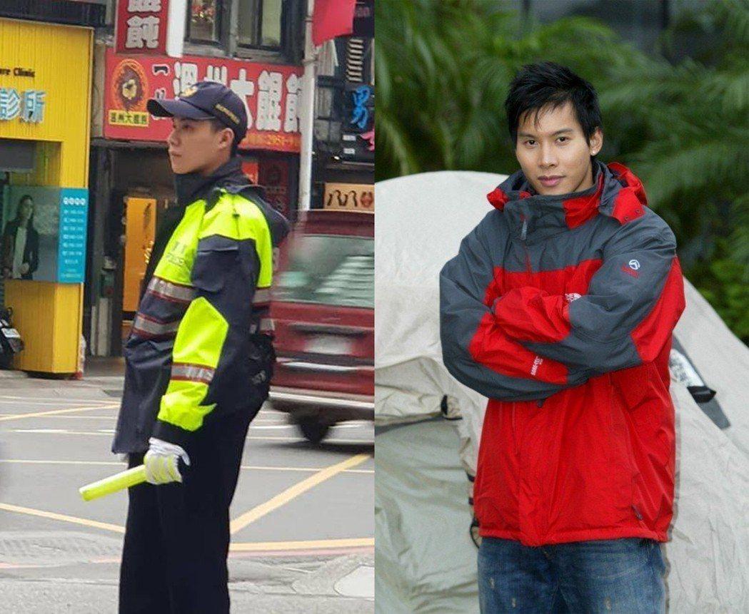 左為板橋帥警、右為顏行書(2005年)。 圖片來源/爆廢公社、聯合報系資料照