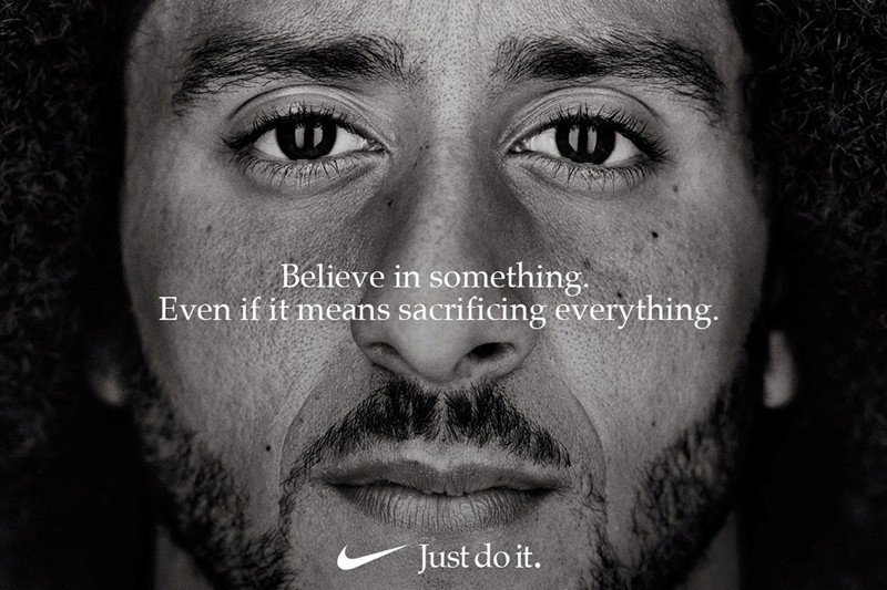 由Nike推出以Kaepernick演出的品牌意象行銷案,仍然受到以自由派為主的...