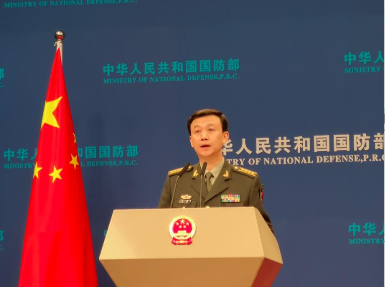 中共國防部發言人吳謙稱,台灣若「以武拒統,是死路一條」。記者賴錦宏/攝影