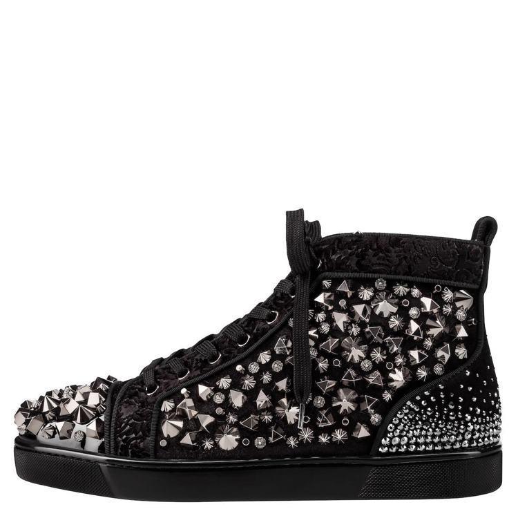 Louis Mix No Limit黑色水鑽低筒球鞋,價格店洽。圖/Chrisi...