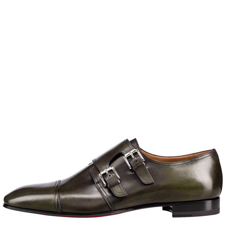 Chrisitan Louboutin Mortimer鐵灰色雙釦孟克鞋,價格店...