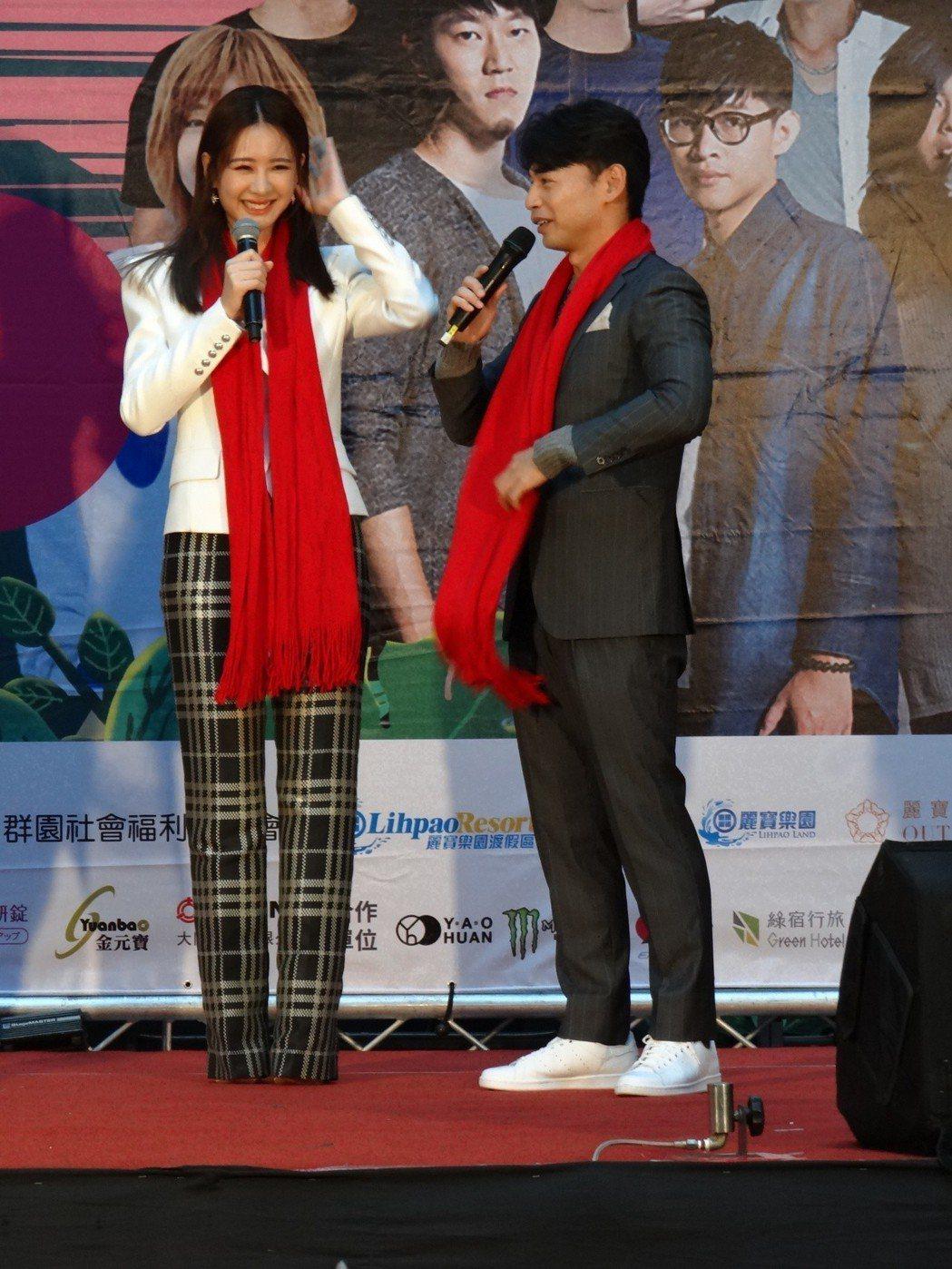 安心亞今出席「2019台中跨年晚會」記者會。圖/三立提供