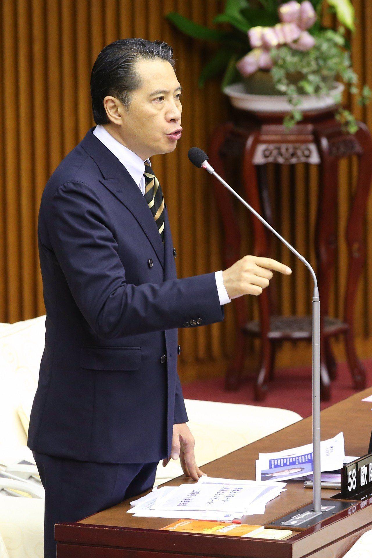 台北市議員歐陽龍傳接任文傳會副主委兼發言人。 聯合報系資料照/記者葉信菉攝影