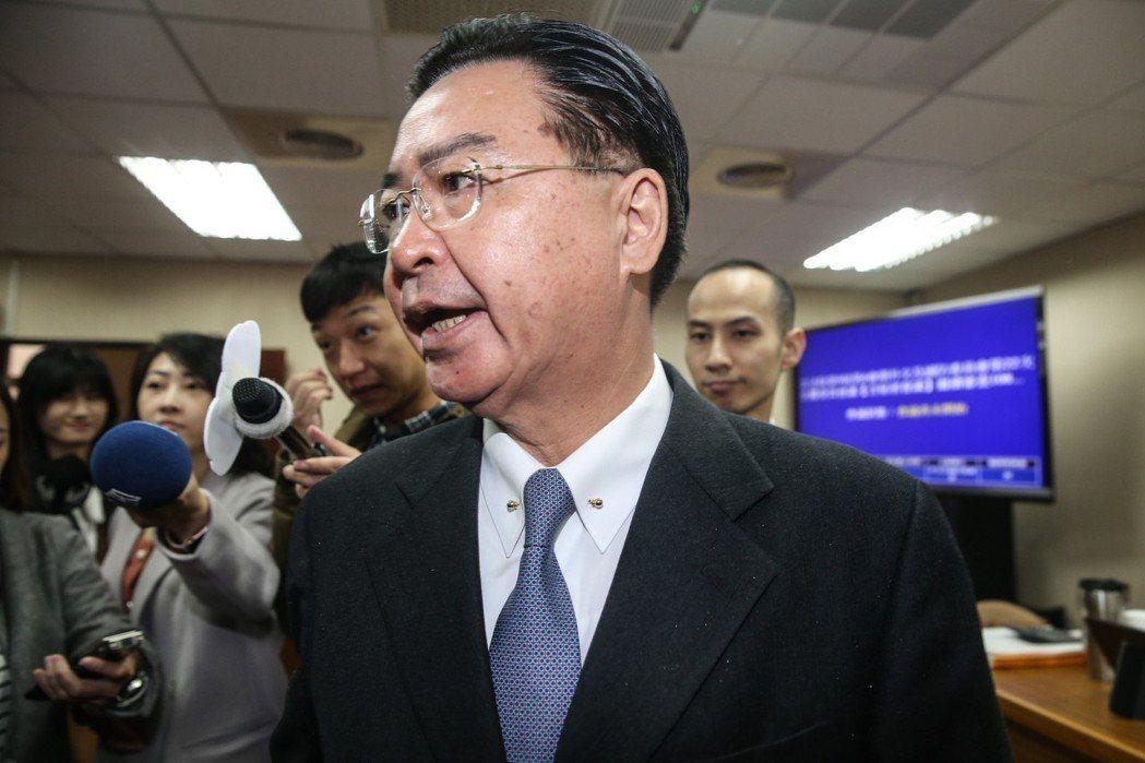 外交部長吳釗燮。圖╱聯合報系資料照片