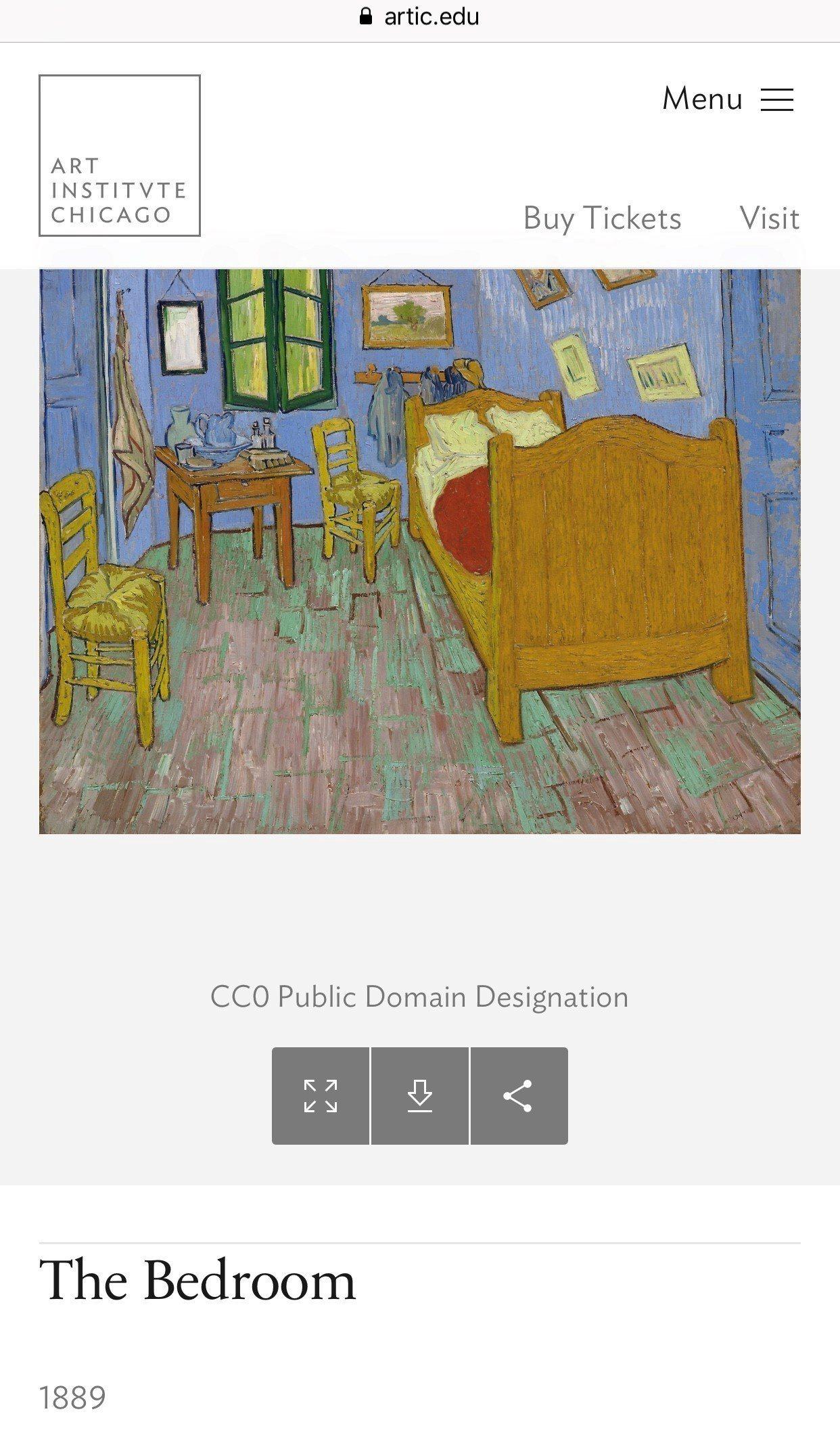 芝加哥藝術館5萬幅畫作即起免費下載,並允許商用。圖/芝加哥藝術館官網