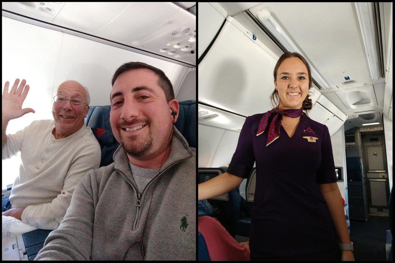 為了陪女兒過聖誕節,哈爾決定參與女兒的每一趟航班。圖片來源/Mike Levy