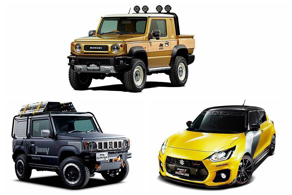 Suzuki汽車公布2019東京改裝車展陣容,熱銷的新Jimny成為主秀外更還有皮卡車版本。 圖/Suzuki提供