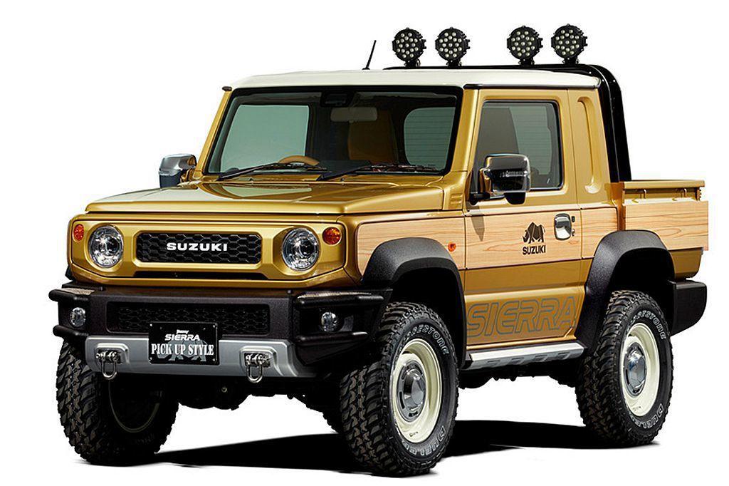 Jimny Sierra Pickup Style改裝概念車。 圖/Suzuki提供