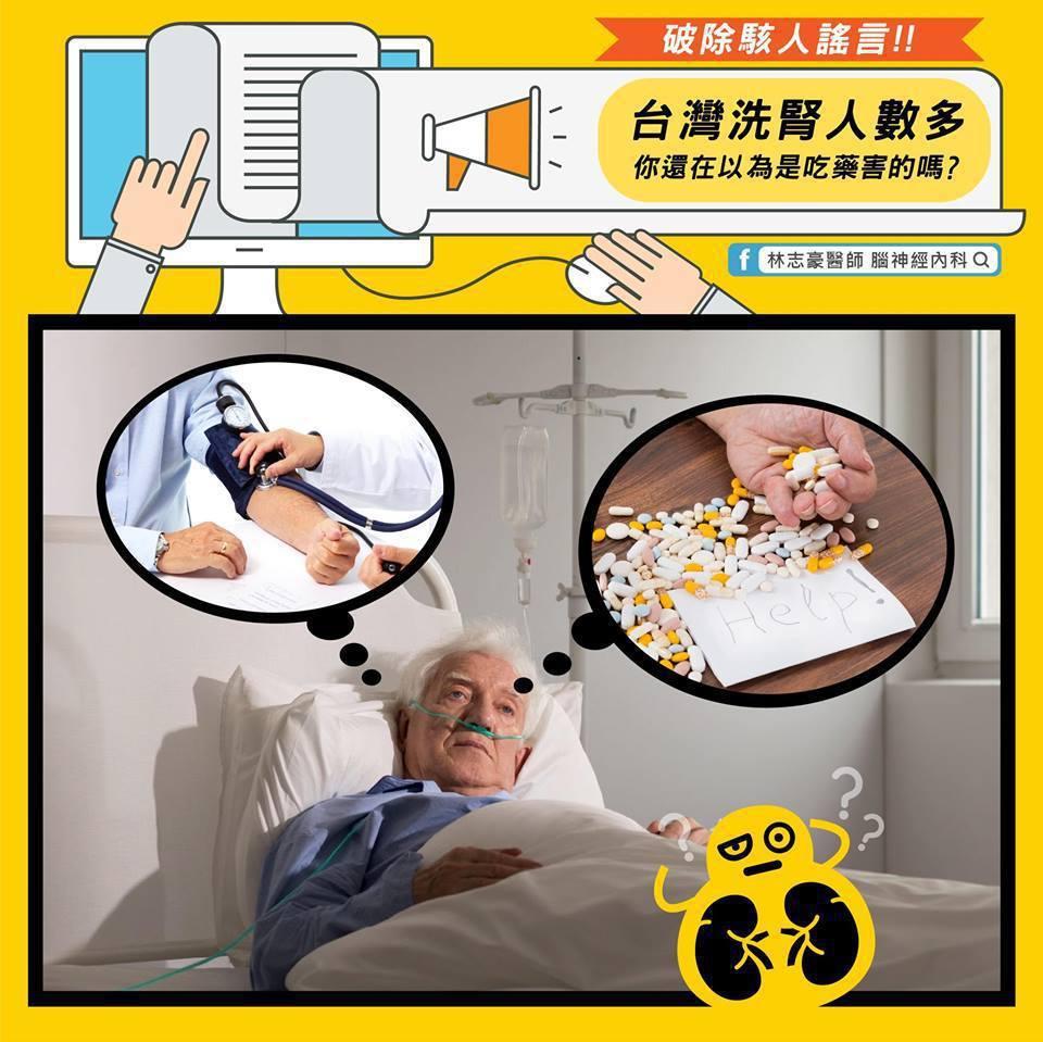 要吃太多會洗腎?圖取自林志豪醫師臉書