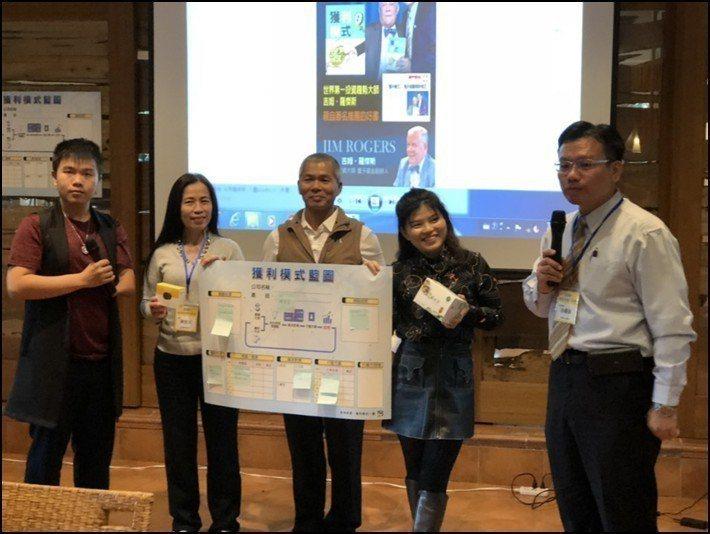 EBI共贏會創辦人徐國雄博士(右一),虎克船長檸檬茶創辦人詹翔欽(左一)。 EB...