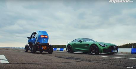影/Mercedes-AMG GT R vs. Renault電動車?這是要比什麼?