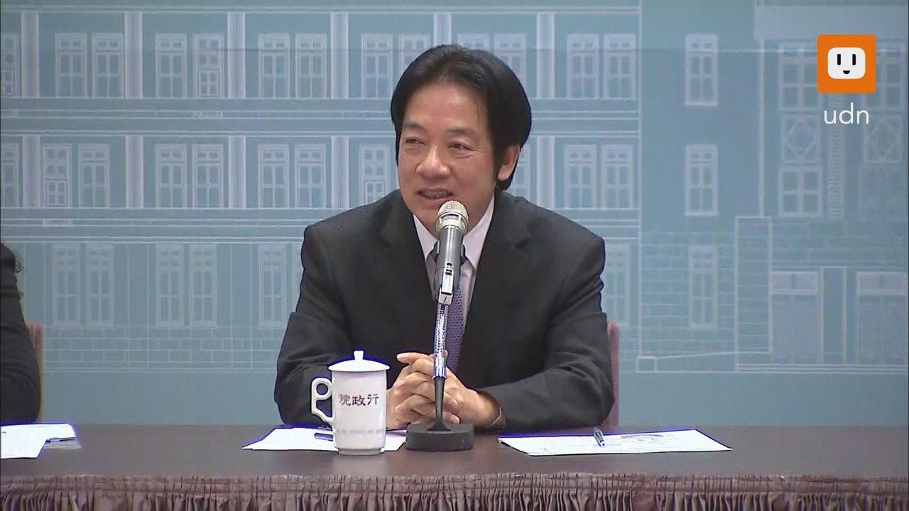 行政院長賴清德今天上午舉行年終記者會。記者陳聖文/攝影
