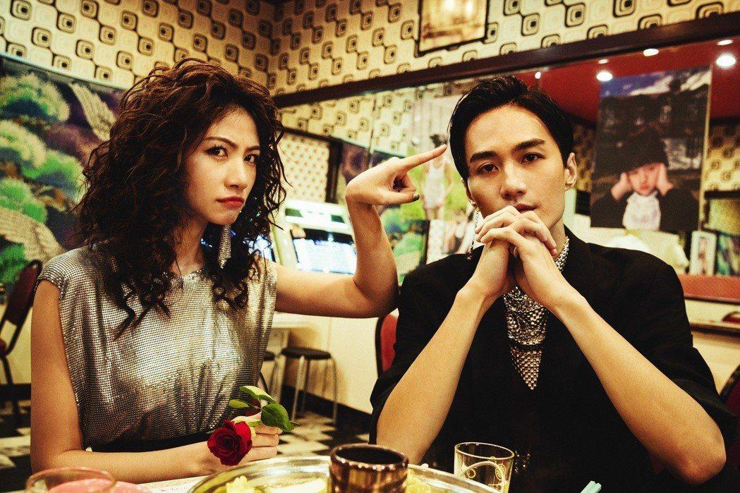 李千那新歌「愛的太超過」找來李英宏擔任MV男主角。圖/樂是達提供