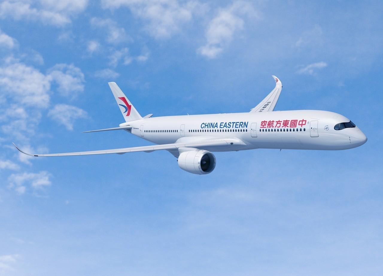 中國東方航空(東航)首架空中巴士A350-900型客機於11月30日飛抵上海虹橋...