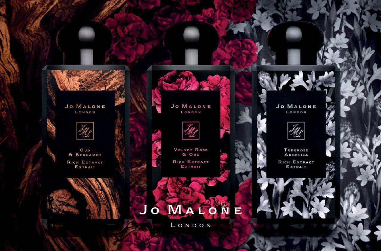 Jo Malone醇粹古龍水系列更加強調每款香氣的重點成份,並於瓶身烙印了3款代...