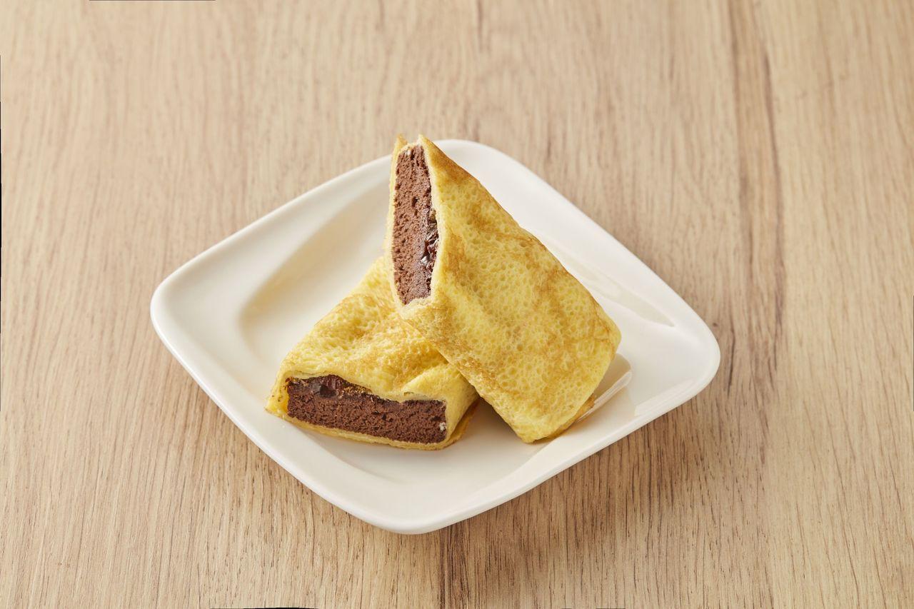 經典巧克力可麗餅(65g/盒)45元。圖╱全聯提供
