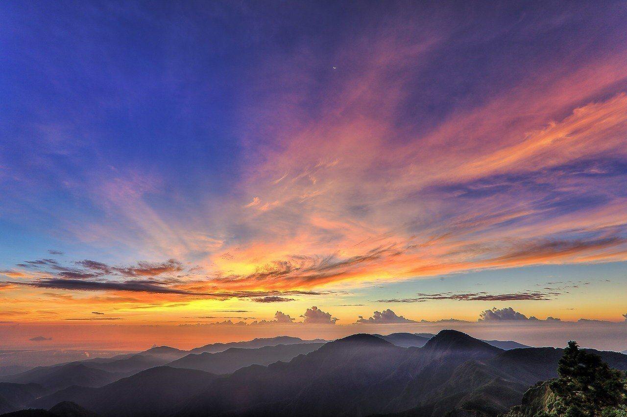 太平山日出。圖/報系資料照,林務局羅東林區管理處提供