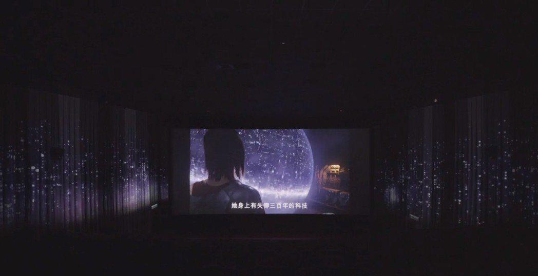 「艾莉塔:戰鬥天使」特殊快閃預告投影燈光秀示意圖。圖/福斯提供