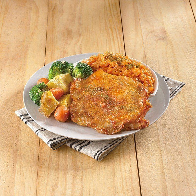 「酥烤腿排西西里燉飯」單點180元、套餐價190元。圖/21世紀風味館提供