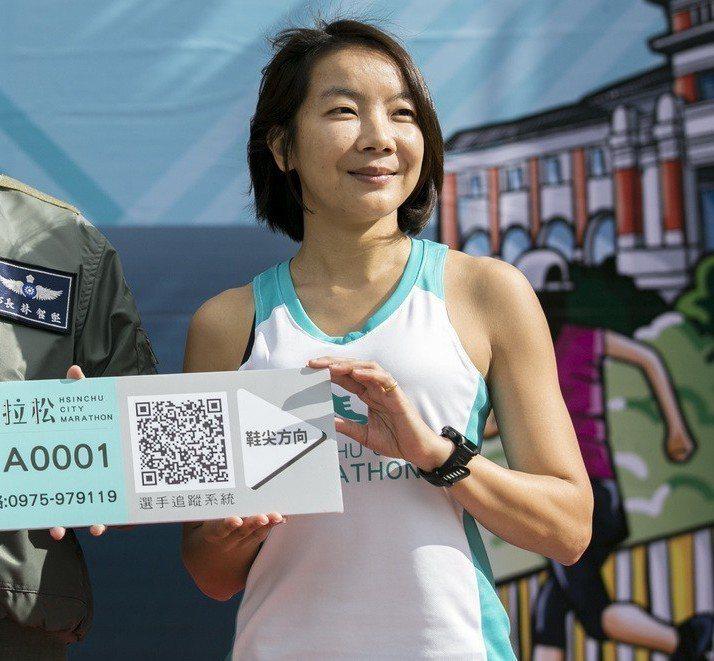 邱靖貽不僅為國內全馬女子百傑之列,也是台灣唯二完成世界六大馬的女跑者。圖/新竹市政府提供