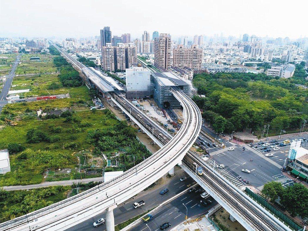 台中鐵路高架捷運化。 台中市交通局/提供