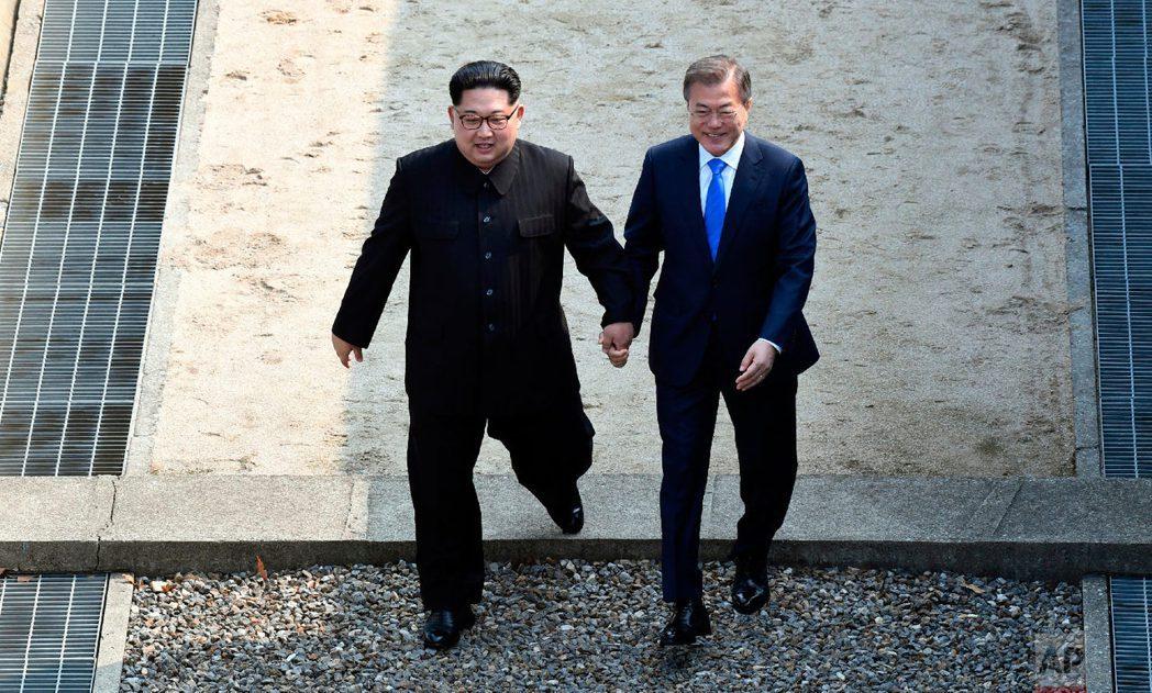 今年東北亞的焦點之一:文金會。2019年金正恩是否會訪問南韓? 圖/美聯社