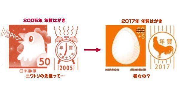 2005年的雞年郵票在12年後變成雞蛋。圖/擷自網路