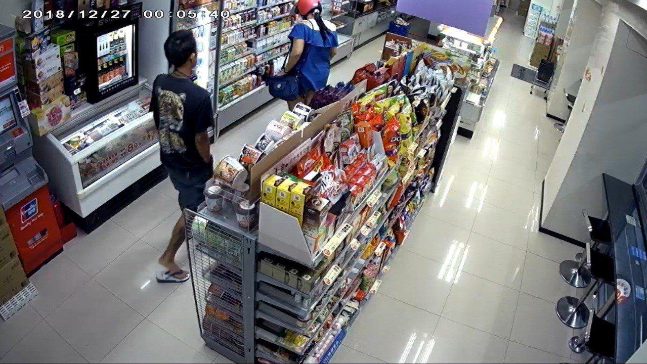 徐姓男子在便利超商搭訕購物女子 又跟蹤返家,女子嚇得報警。記者潘欣中/翻攝