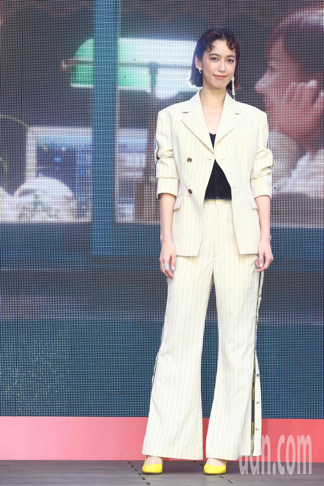 陳庭妮下午出席《比悲傷更悲傷的故事》台灣電影票房冠軍記者會。記者葉信菉/攝影