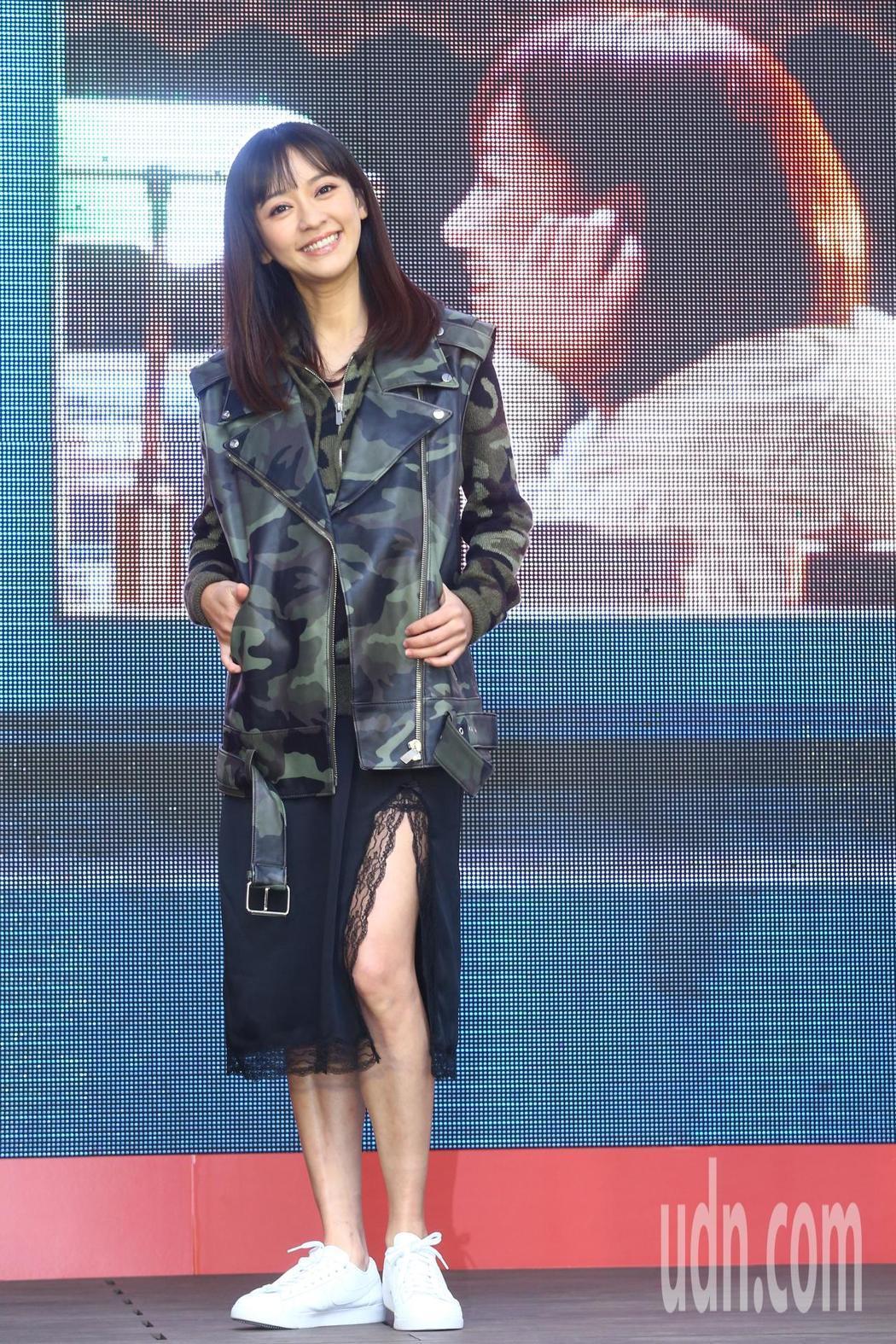 陳意涵挺8月孕肚出席「比悲傷更悲傷的故事」感恩記者會。記者葉信菉/攝影