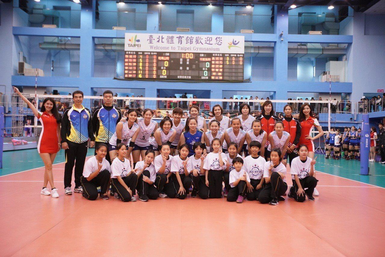 女排明星白隊。圖/中華排球協會提供