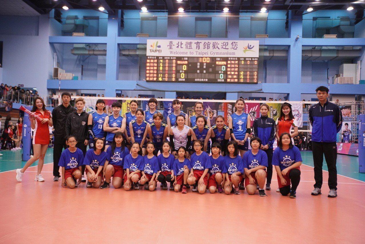 女排明星藍隊。圖/中華排球協會提供
