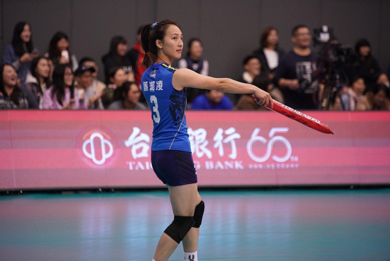 蕭湘凌對首屆明星賽直呼好玩。圖/中華排球協會提供