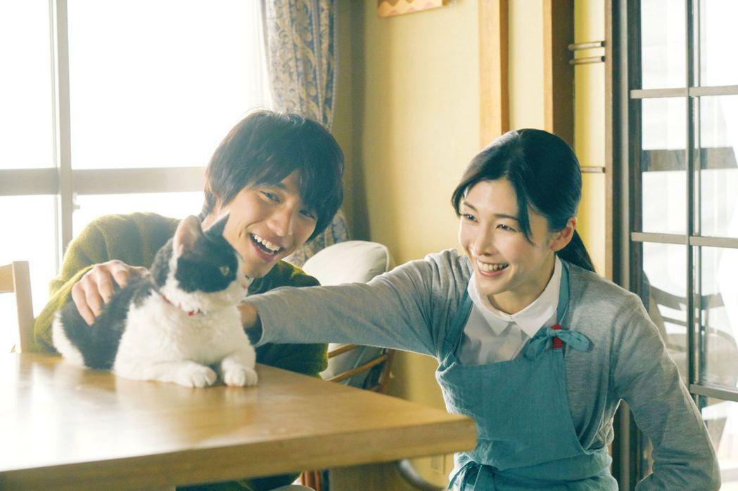 竹內結子在《旅貓日記》升格當福士蒼汰的小阿姨。圖/Catchplay提供