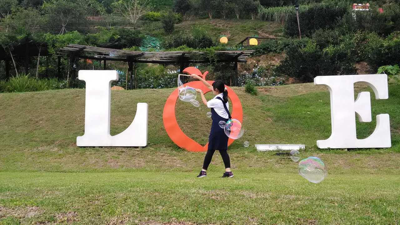 橘子Love造景也是到橙香森林必打卡景點。圖/摘自澄香森林粉絲團