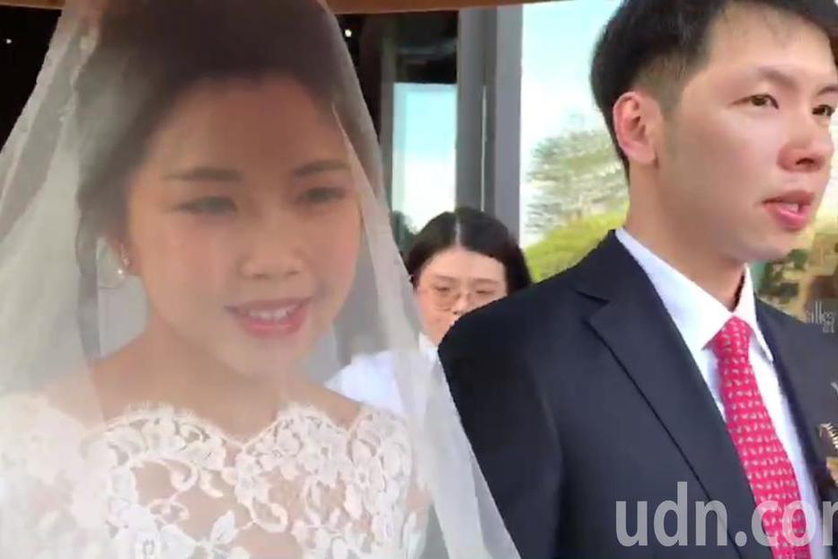 賴清德的長子賴廷與今天娶媳婦。 記者修瑞瑩/攝影