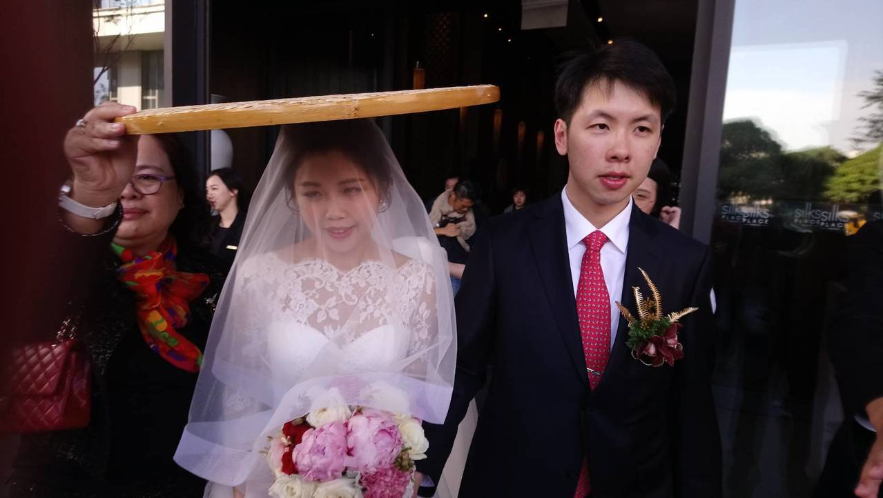 賴清德長子賴廷與今天娶妻。記者修瑞瑩/攝影