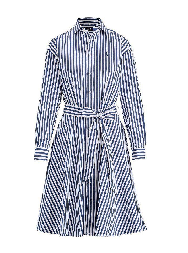 Polo Ralph Lauren 2019早春條紋洋裝,8,880元。圖/遠百...