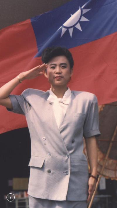 沈智慧參選立委,一向是黃復興黨部全力支援,當時有軍系立委封號。 圖/沈智慧提供