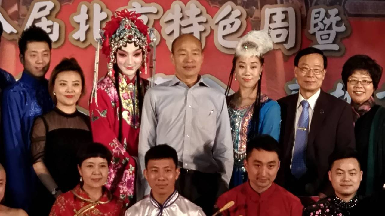 高市長韓國瑜下午在高雄香蕉碼頭參加北京特色周活動,他聽到媒體詢問獨派大老辜寬敏的...