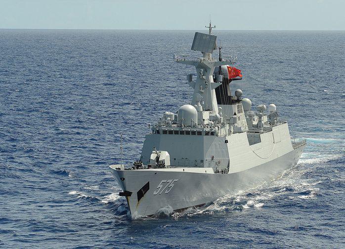 中共自製的054A巡防艦。 圖/摘自維基百科
