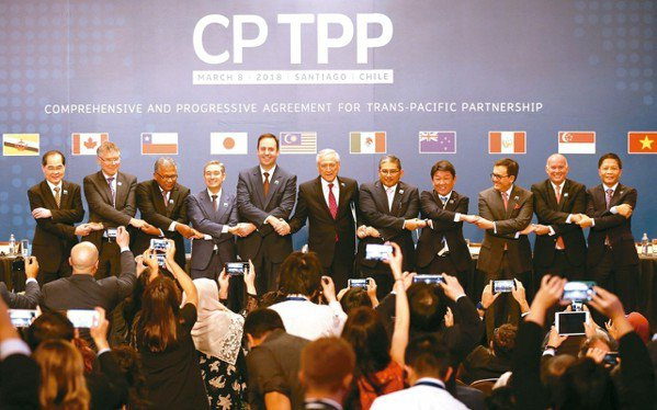 CPTTP於今年3月8日在智利聖地牙哥正式簽署。 路透