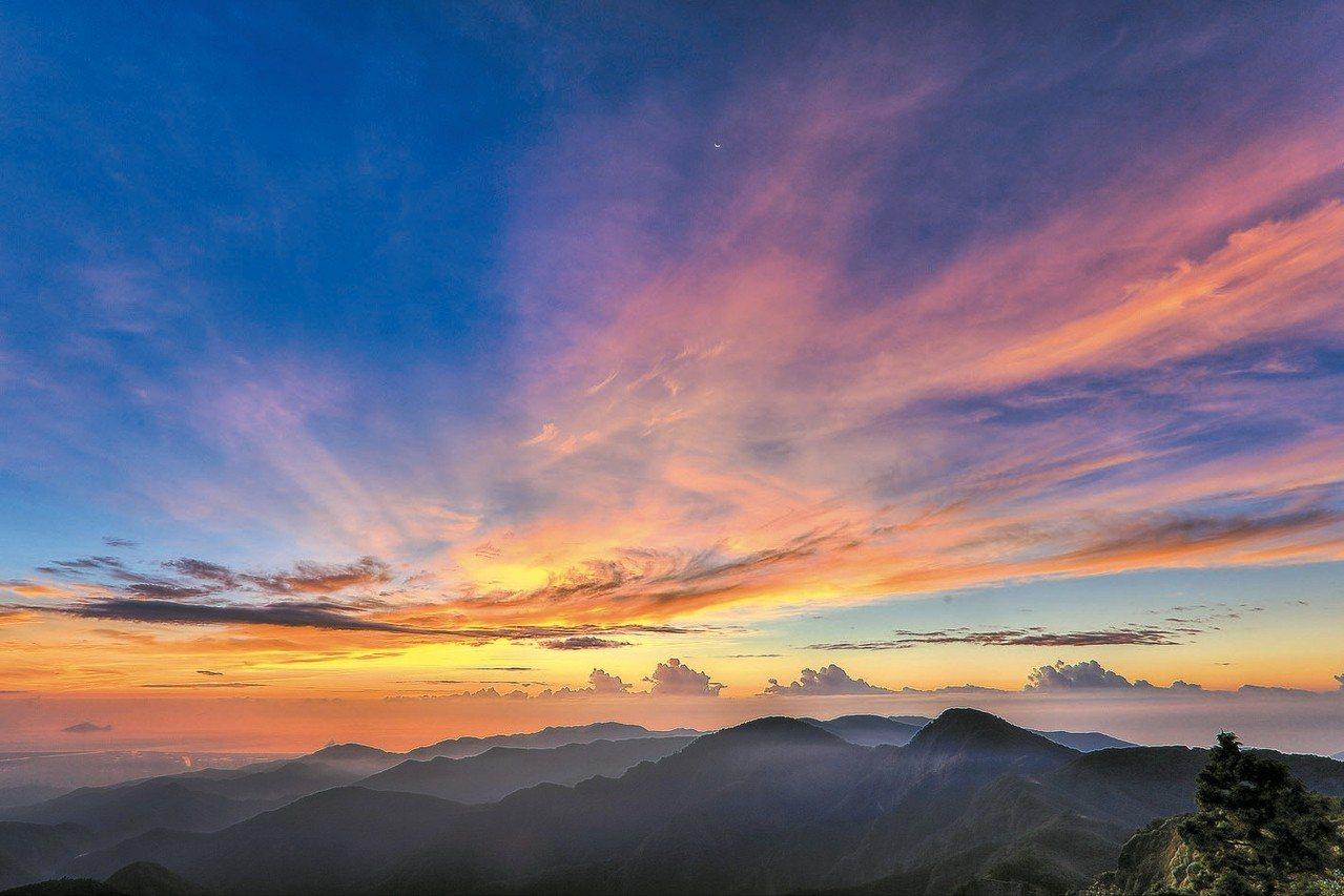太平山是賞日出的絕佳地點。 羅東林管處/提供