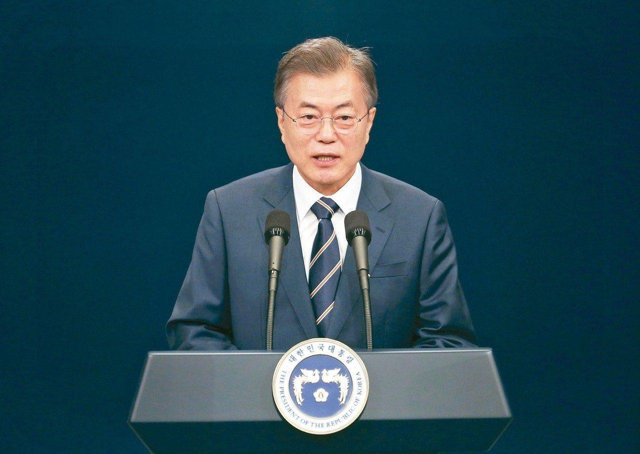 南韓總統文在寅。美聯社資料照