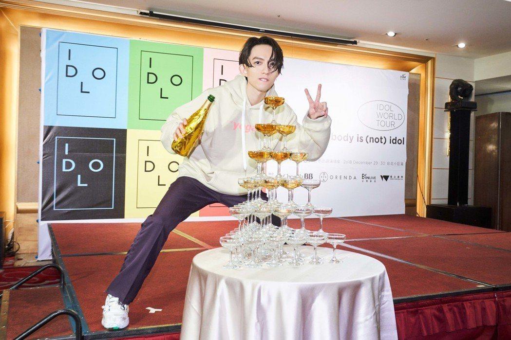 完成2場演出的林宥嘉開心慶功。圖/華研提供禁止酒駕 飲酒過量有礙健康