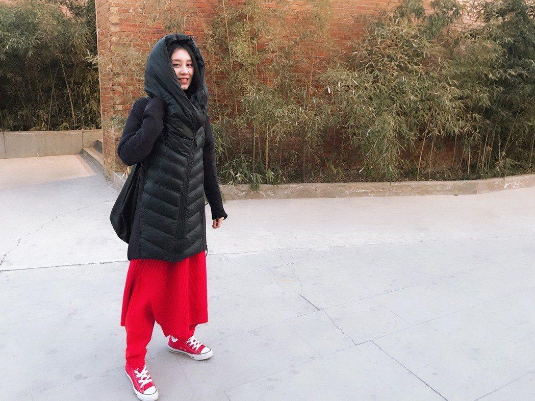 白安今清晨從酷寒北京趕來台中跨年。圖/相信音樂提供