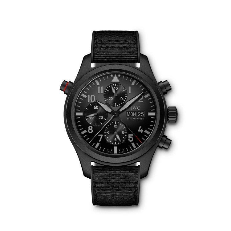 萬國Top Gun海軍空戰部隊系列腕表,瓷化鈦金屬表殼,價格未定。圖/IWC提供