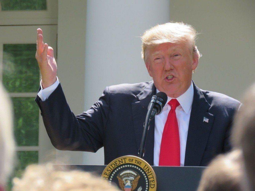 美國總統川普表示,美國不想再扮演世界警察角色。 聯合報系資料照片/華盛頓記者張...